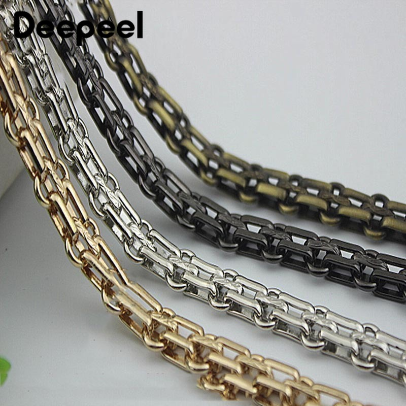 50/100cm Deepeel12MM Bag Metal Chain Buckle For Shoulder Bags Handbag Buckle Handle DIY Luggage Hardware Strap Accessories AP628