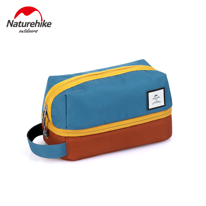 Naturehike 3.5L Oxford Toiletry Bag Sorting Cosmetic Combo Dry Wet Waterproof Washing Bag Toiletry Kit Camping Travel Organizer