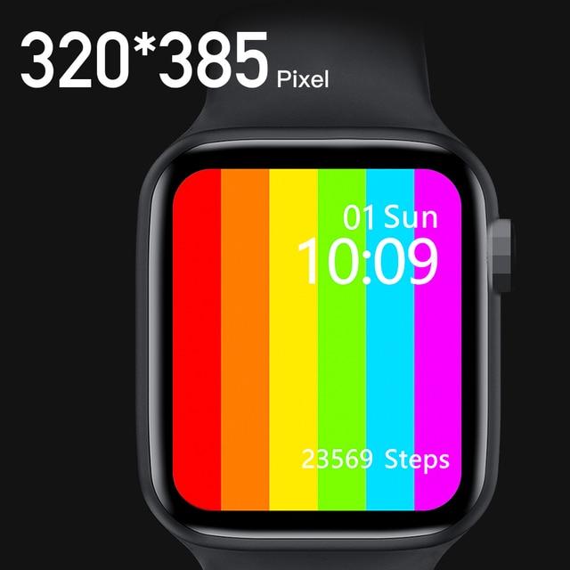 Cobrafly IWO W26 1.75 cal w pełni dotykowy ekran Smart Watch Series 6 połączenie Bluetooth aparat ekg do mierzenia tętna serca wodoodporna Smartwatch