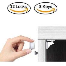 Cerradura magnética para niños, pestillo de cajón de Cerradura de seguridad para bebés, limitador de Cerradura para puerta de gabinete, cerraduras de seguridad