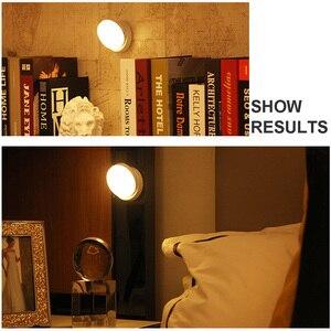 Image 5 - LED Night Light 360 องศาหมุนPIR Motion Sensor 6 LEDsโคมไฟสำหรับตู้เสื้อผ้าตู้เสื้อผ้าตู้เสื้อผ้าห้องครัวNight Light