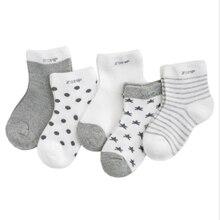 Newborn-Baby Socks Clothes-Accessories Thicken Kids Boy Cartoon Cotton 5pairs/Lot