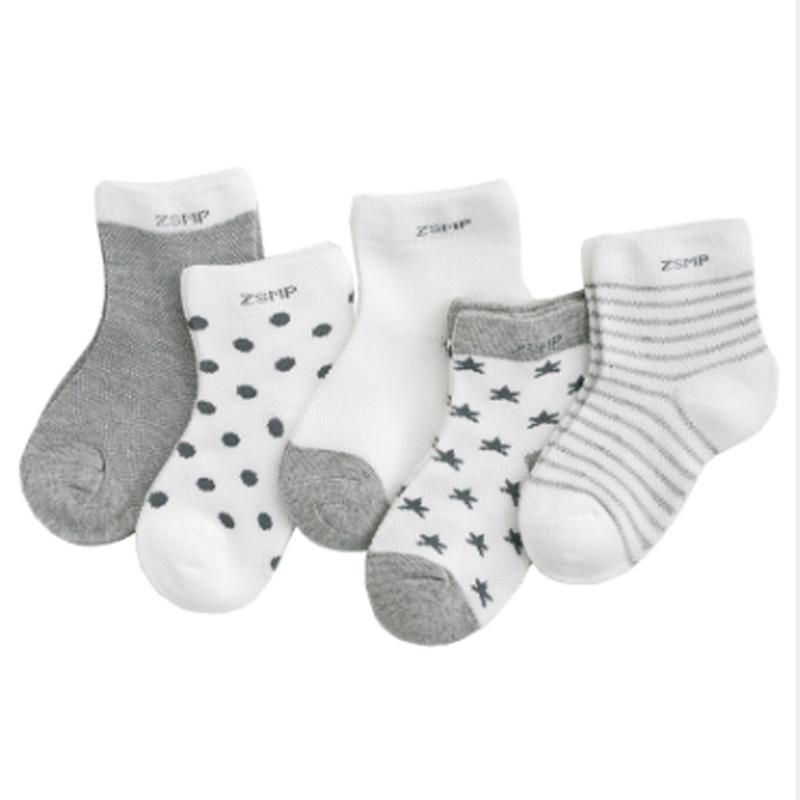 5pairs/lot NewBorn Baby Socks Thicken Cartoon Comfort Cotton Newborn Socks Kids Boy For 0 2 Years Baby Clothes Accessories