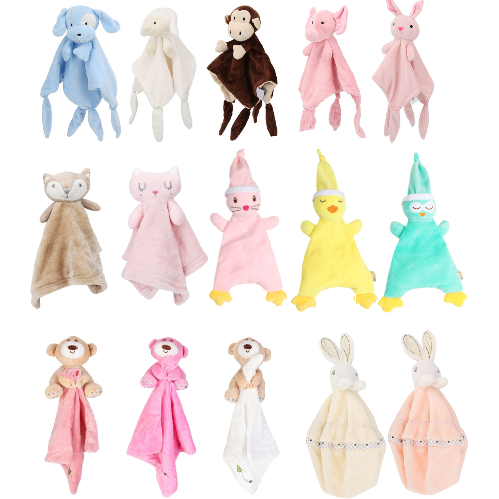 Baby Towel Infant Soothe Appease Towel Soft Plush Comforting Toy Towel Cute Rabbit Velvet Appease Baby Sleep Toy