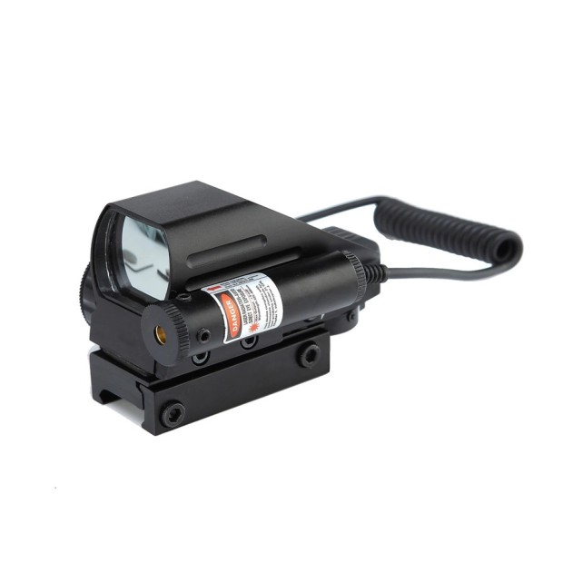 DREAMY ANT Tactical Reflex Red Green Laser 4 Reticle Holographic Projected Dot Sight Scope 11/20mm Rail Mount For Airgun Hunting