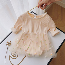 Daisy New Toddler Outfits Girl Lace Gauze Skirt Newborn Baby Romper