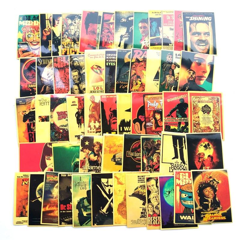 54 шт. классические Стикеры из фильмов для багажа ноутбука художественная живопись Kill Bill Pulp фантастика плакат наклейки Водонепроницаемая игрушка для скейтборда F3 Наклейки      АлиЭкспресс