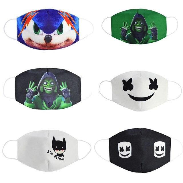 2020 New Breathable Protective Face Masks Men Women Kids Unisex Soft Cartoon Anti-flu Anti-smog Anti-Dust Motorcycle Mask