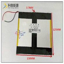 Bateria de íon de lítio polímero, 3.7v 8000mah sd 37125130 para bateria universal de íon de lítio para tablet pc 8 polegada 9 polegadas 10 polegadas