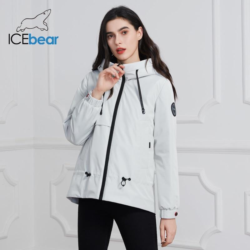 ICEbear 2020 Women Jacket With A Hood Stylish Casual Women Jacket Women Spring Clothes Brand Clothing GWC2023D