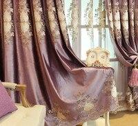 Europejskie zasłony do salonu jadalnia sypialnia włoskie aksamitne haftowane zasłony w Zasłony od Dom i ogród na