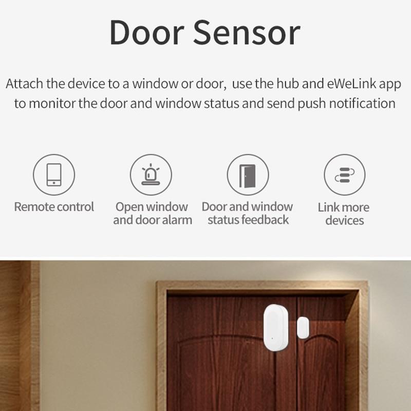 EWelink Zigbee Hub Smart Home PIR Sensor Door Sensor Temperature and Humidity Sensor Home Automation Scene Security Alarm Kit