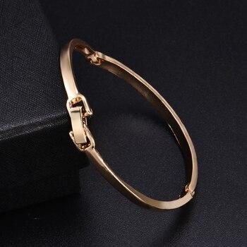 Fashion Gold Stainless Steel White Rhinestone Crystal Bracelet Women Wedding Party Cuff Bangle Bracelet Jewelry 3