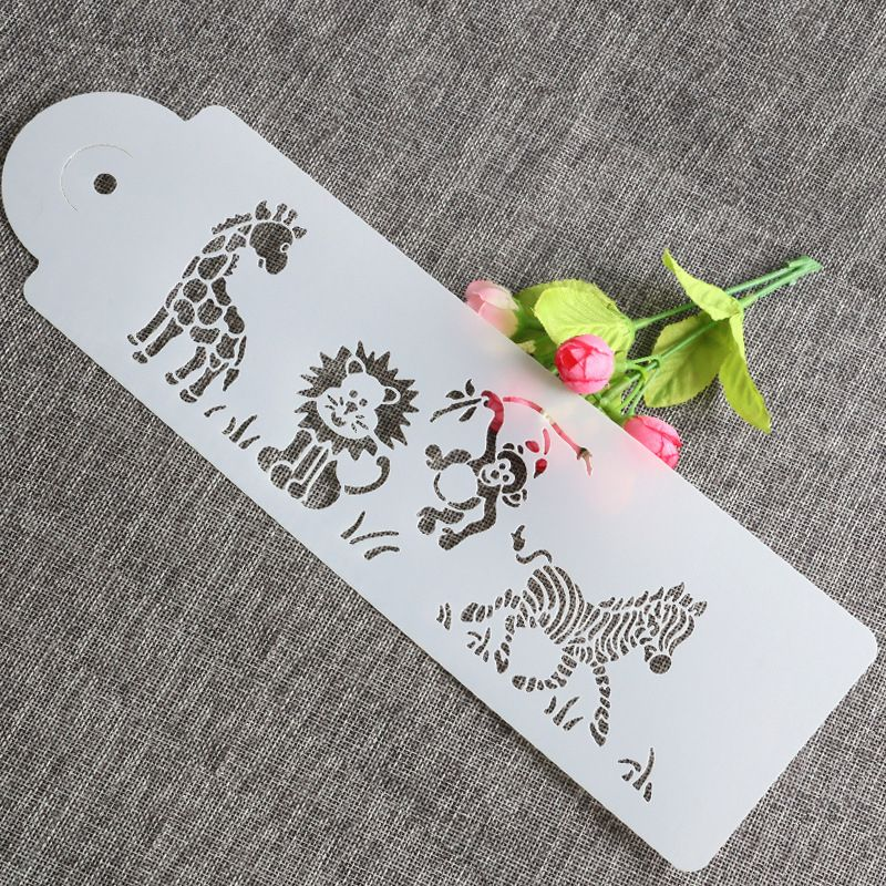 Cute Giraffe Zebra Monkey Lion Cake Airbrush Painting Art DIY Home Decor Scrap Booking Album Crafts Stencil Airbrush Paint