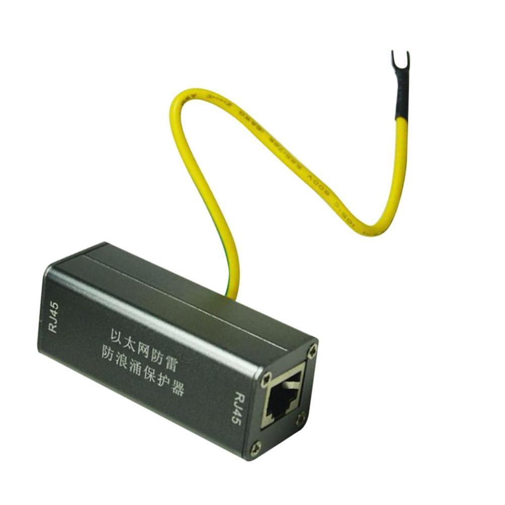 Protector PoE+Gigabit 1000Mbs RJ45 Jack To RJ45 Jack Ethernet Surge Protector Thunder Lightnin Arrester Protect Adapte