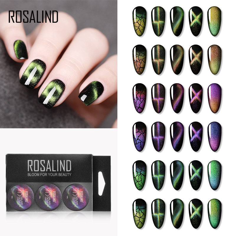ROSALIND 9D Cat Eye Gel Set Of Nail Art Design Semi Permanent UV Gel Nail Polish All For Manicure Varnishes Kit With Tool