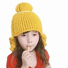 Рождественская вязаная шапка, зимняя одежда для маленьких девочек, Детские зимние штаны Шапки ушами для мальчиков и девочек, детская одежда для сна, теплая Кепка, теплая зимняя шапка для детей Chapeu#3
