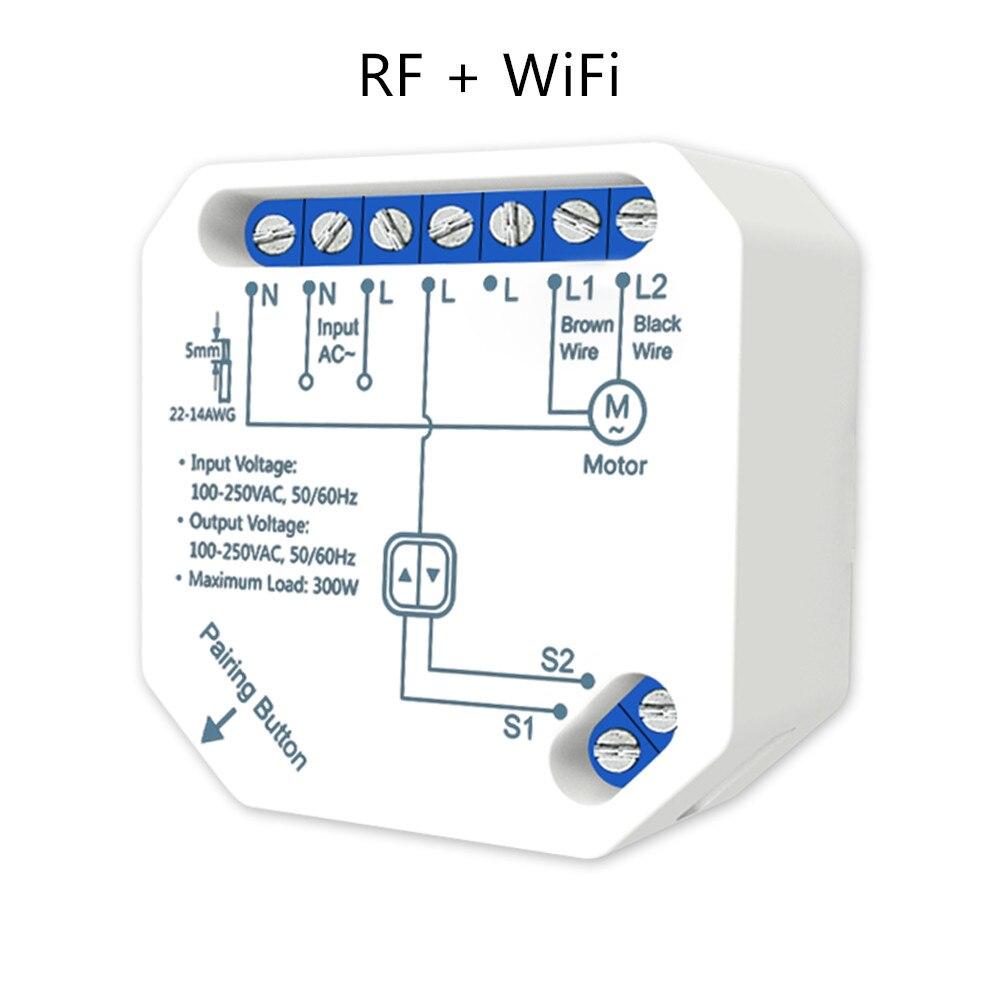 Tuya Smart WiFi RF Cieco Modulo Switch Per Tenda A Rullo Motore Elettrico, Il Lavoro Con LoraTap Di Scatto A Distanza
