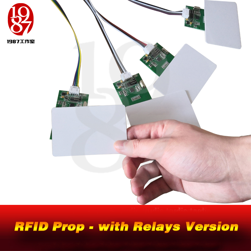 escape room prop RFID Prop with Relays Version place each IC card can trigger an output from JXKJ1987 adventure 2020 new prop(China)