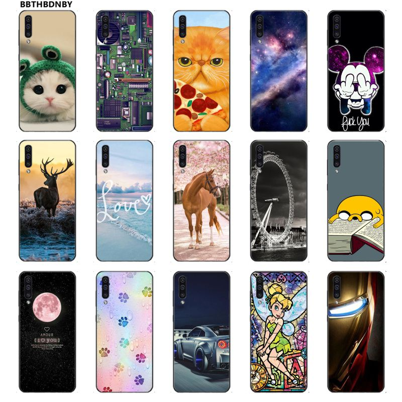 Phone Case For Galaxy A40 Case <font><b>Hoesje</b></font> TPU Soft Silicone Phone Case Cover For <font><b>Samsung</b></font> Note 3 4 5 7 8 9 10 Pro A7 2018 A10 A40 <font><b>A50</b></font> image