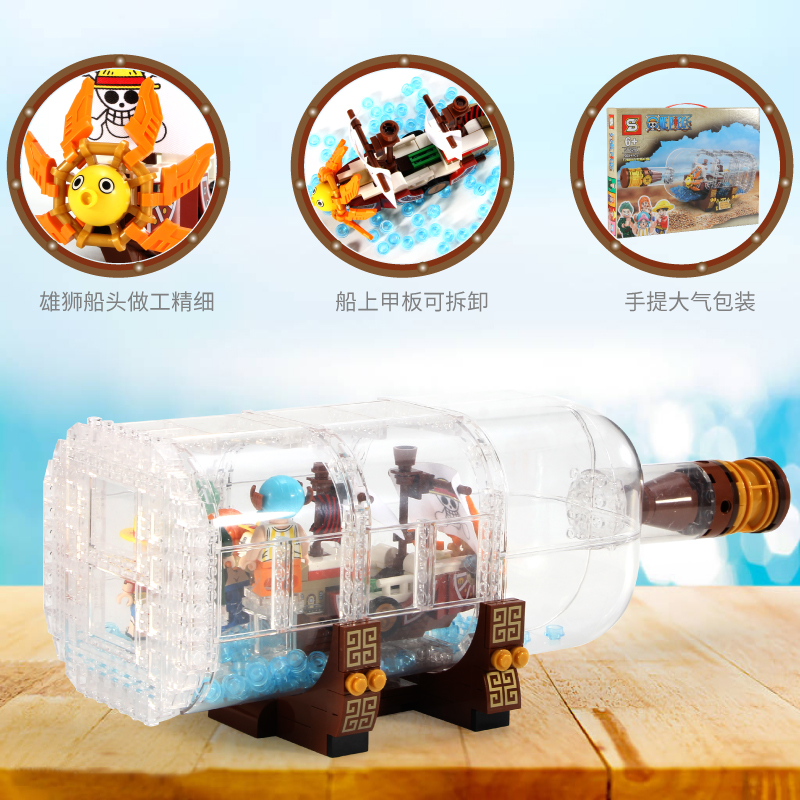 SY6294 1078pcs Technic Idea Ship Boat In A Bottle Compatible Lepining <font><b>21313</b></font> Building Blocks Bricks Toys For Children Gift image