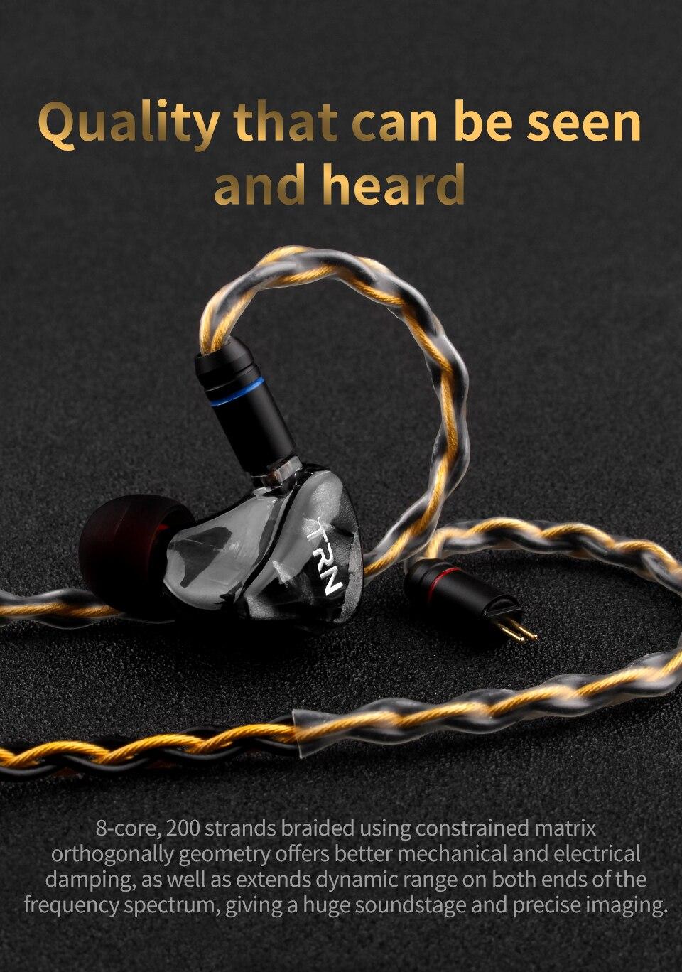 3.5 mmcx fone de ouvido cabo atualização