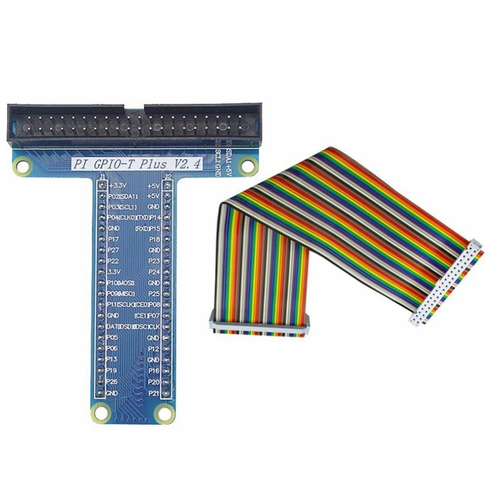 GPIO T Type Expansion Module Board Adapter With 40 Pin GPIO Female To Female Rainbow Cable For Raspberry Pi3/ 2 Model B+