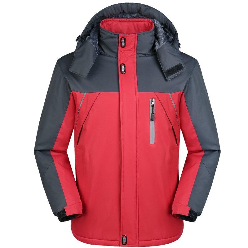 Winter Inner Fleece Windproof Waterproof  Jackets Men Thick Warm Winter Jacket Men Oversize Warm Coat,ZA281