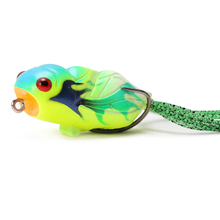 Cicada Froggy 15.5g 65mm Fishing Lure Frog Popper Artificial Soft Baits Topwater Plastic Snakehead Frogs Dropshipping