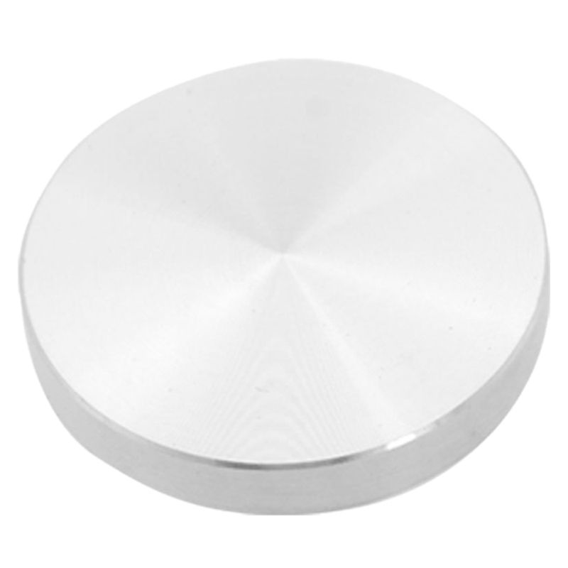 Glass Plate Adapter Table Leg, Aluminum, Round, 50x8mm, Silver