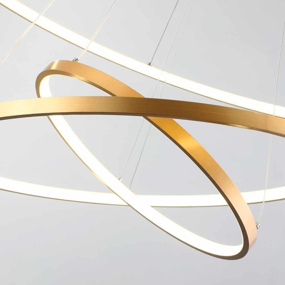 โมเดิร์นขนาดใหญ่แหวน DIY จี้ไฟ led เปลี่ยนโคมไฟแขวนโคมไฟสำหรับห้องครัวร้านอาหารบ้านตกแต่งโคมไฟ