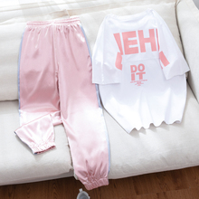 2020 Summer Tracksuit Women 2 Piece Set Casual Short Sleeve Sportwear Suits Fema