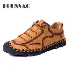 BOUSSAC Sneakers Men Spring Casual Shoes Fashion Loafers Driving Soft Moccasins Flats Slip on Footwear