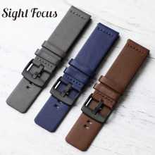 18mm 20mm 22mm 24mm Leather Watch band Strap for Samsung Galaxy Watch 42 46mm Gear S3 Sport Square Tail WatchBand Quick Release(China)