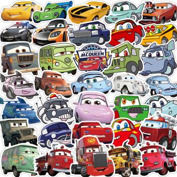 10 50 sztuk Disney Kawaii naklejki Anime śmieszne Pixar samochodów naklejka do zrobienia w domu laptopa gitara deskorolka bagaż wodoodporna naklejki dla dzieci zabawki dla dzieci tanie i dobre opinie CN (pochodzenie) 1 2in(3CM)-3 9 in(10CM) Waterproof PVC Leave trace instagram anime stickers children kpop random 1Pack 50g