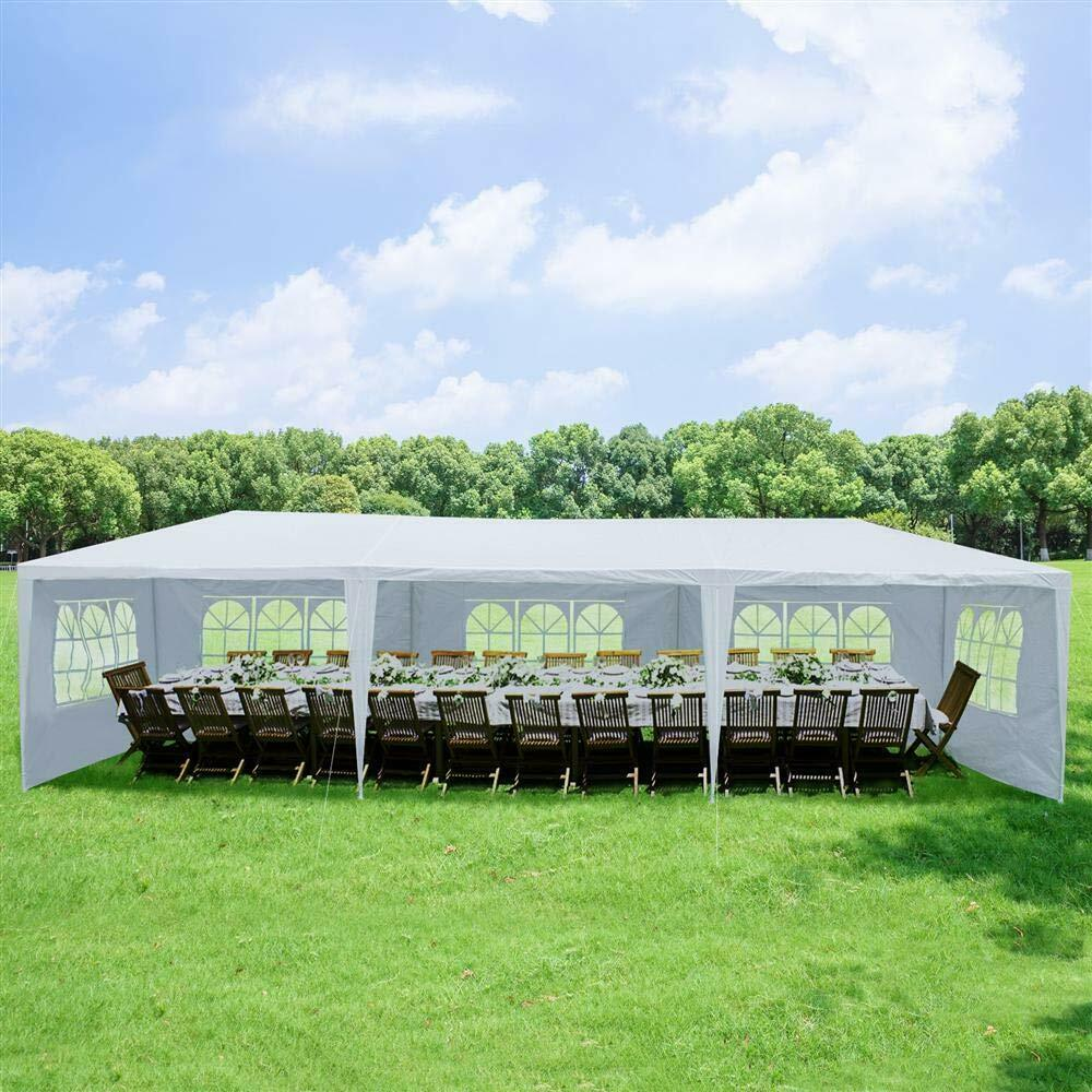 10X 30ft Canopy Wedding Party Tent Portable Upgrade Outdoor Gazebo Pavilion Waterproof Tent With 5 Walls Cover Outdoor