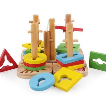 Zestawy drewniane bloczki dla dzieci zabawki edukacyjne kształt geometryczny dopasowane zabawki dla dzieci układanie zwierząt Oyuncak Juguetes Educativos tanie i dobre opinie CN (pochodzenie) Do not eat away from the fire Drewna 5-7 lat 2-4 lat 8 ~ 13 Lat Zwierzęta i Natura New776523