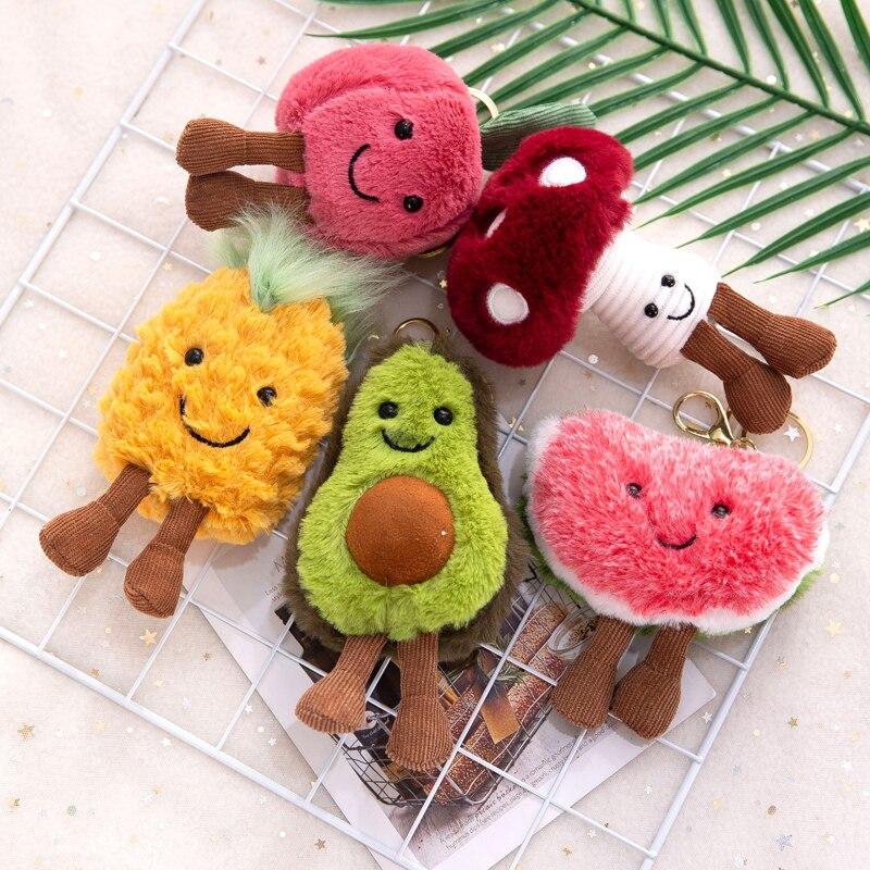 13 см кулон в виде фруктов и авокадо, милая кукла, брелок, плюшевая игрушка, мягкие игрушки, женская подвеска для сумки, хороший рождественский подарок для девочки|Мягкие игрушки животные| | АлиЭкспресс