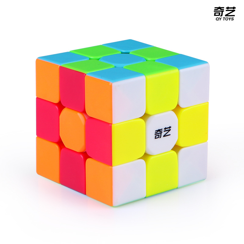QIYI Warrior S 3x3x3 Stickerless Magic Cubes ABS 56 Mm Puzzle Cubes Professional Speed Cubes Educational Toys For Children