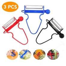1/3Pcs Magic Trio Peeler Slicer Shredder Dunschiller Julienne Cutter Multi Rvs Blade Rasp Zesters Keuken Accessoires(China)
