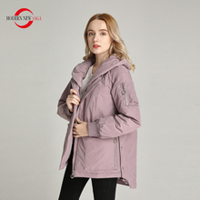 Padded Jacket Spring Coat Women MODERN Hooded Fashion Cotton NEW SAGA Autumn Thin Russian-Size
