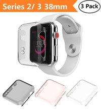 3 Pack Ultra Thin Slim HD PC Screen Protector Protective Cover for iWatch 2 iwatch case Apple Watch Series &