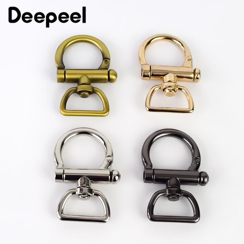 Deepeel2/6pcs ID25mm Bags Shoulder Strap Buckles For Webbing Clamp Hang Hook DIY Keychain Dog Clasp Leather Hardware Accessories