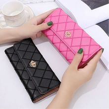 Women Wallet Minimalist Designer Long Bifold Female Clutch L