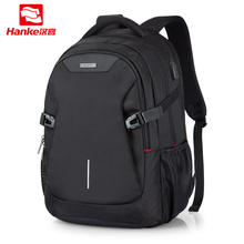 "Unisex Women Men Laptop Backpack Business Travel Bag Boys Girls School Bag Large Capacity USB Port Waterproof Black 19"" H6851"
