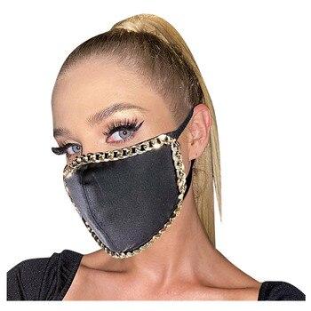 #30 1pcs Fashion Adult Party Sequin Mask Metal Edge Washable Adjustable Reusable Breathable Face Mask mondkapjes wasbaar