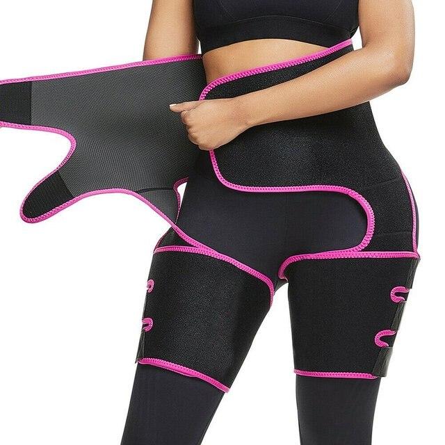 Sweat belt widens yoga fat burning belly belt Female Neoprene Nylon Protect waist Fat burning Abdomen Yoga 3