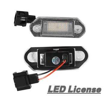 1 para LED prawo jazdy numer rejestracyjny żarówki świetlne dla VW Golf MK3 dla Skoda Octavia I Auto oświetlenie tablica rejestracyjna części tanie i dobre opinie CN (pochodzenie) oświetlenie tablicy rejestracyjnej