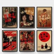 O fim do cartaz retro do mundo do f *ing * ing, cartaz do papel de embalagem, pintura da decoração da casa, adesivo de parede decorativo do vintage