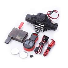 RC Car Metal Winch + Wireless Remote Controller for 1:10 RC Crawler Car Traxxas TRX4 Axial SCX10 90046 D90 D110 TF2 Tamiya CC01(China)